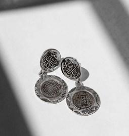 Boucles d'oreilles infinity coins