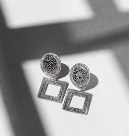 Boucles d'oreilles Square Coins