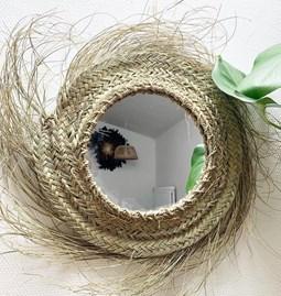 Miroir en fibre de palmier