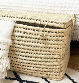 Storage box in palm leaves