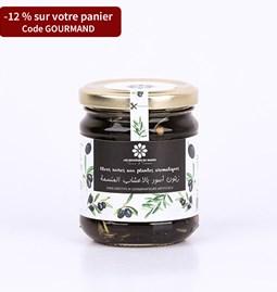 Olives noires aux plantes aromatiques 180 gr