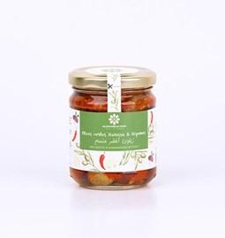 Mélange Olives vertes harissa & légumes