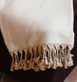 Fouta finition crochet