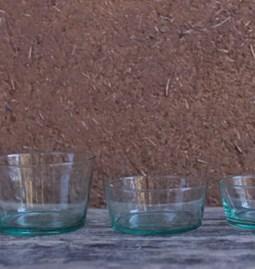 Saladier  en verre conique