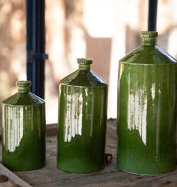 Bouteilles céramique  verte