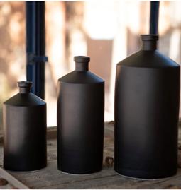 Bouteilles céramique noire