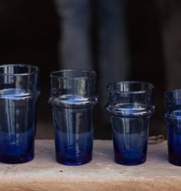 12  blue glasses