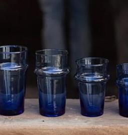 12 Verres beldi bleu
