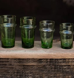 12  green glasses
