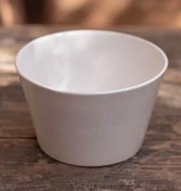 Saladier céramique conique blanc