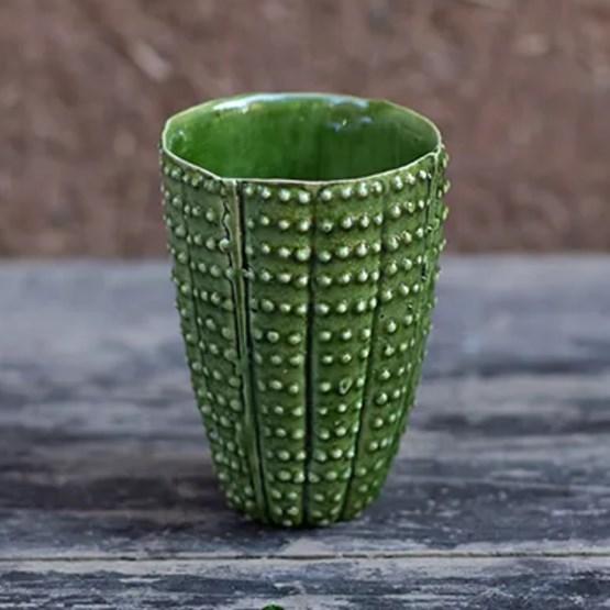 4 verres cactus   - Design : CORINNE BENSIMON MAISON