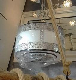 Luminaire Suspension cylindrique arabesque