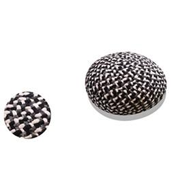 Pouf Mokari gris noir et blanc