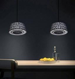 Luminaire Suspension cylindrique et cache plafond arabesque