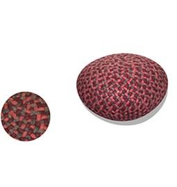 Pouf Mokari rouge et marron