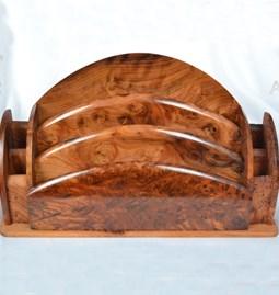 Classeur/organiseur en bois de thuya