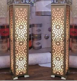 Lampadaire arabesque design