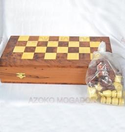 Boîte jeu d'Echecs et jeu de Dames