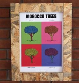 POP interpretation of the botanical board ORANGE TREE