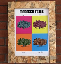 POP interpretation of the botanical board ARGAN TREE.