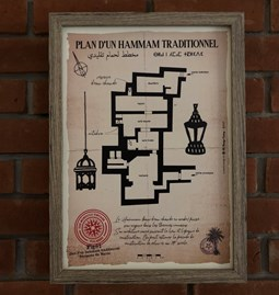 Plan of a traditional Hammam (1)