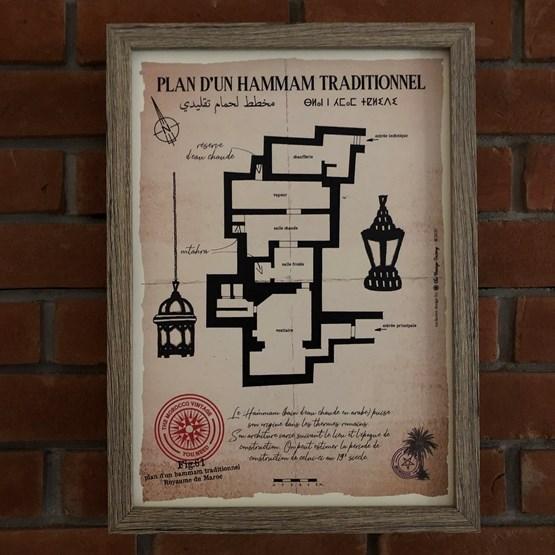 Plan d'un Hammam traditionnel (1) - Design : THE VINTAGE FACTORY
