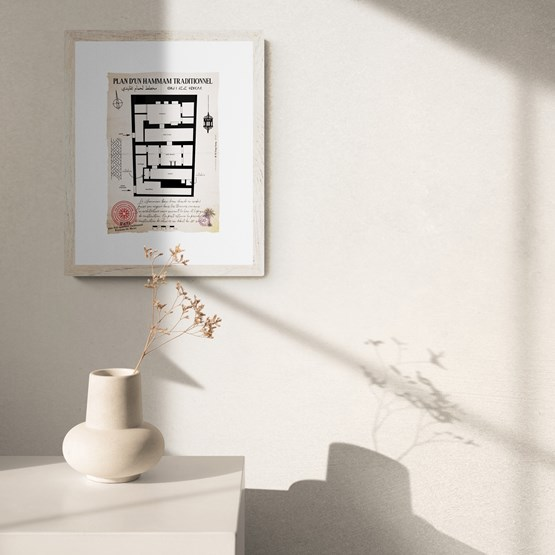 Plan d'un Hammam traditionnel (2) - Design : THE VINTAGE FACTORY
