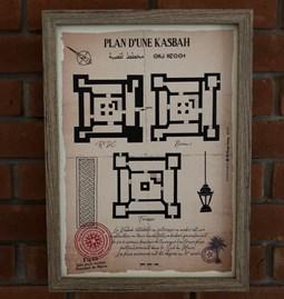 Plan d'une Kasbah