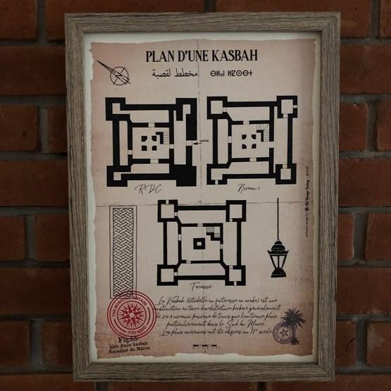 Plan d'une Kasbah - Design : THE VINTAGE FACTORY