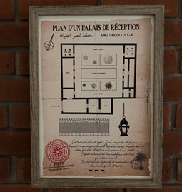"""Plan of a """"Palais de réception"""""""