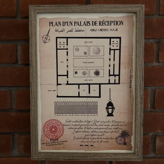 Plan d'un Palais de réception - Design : THE VINTAGE FACTORY
