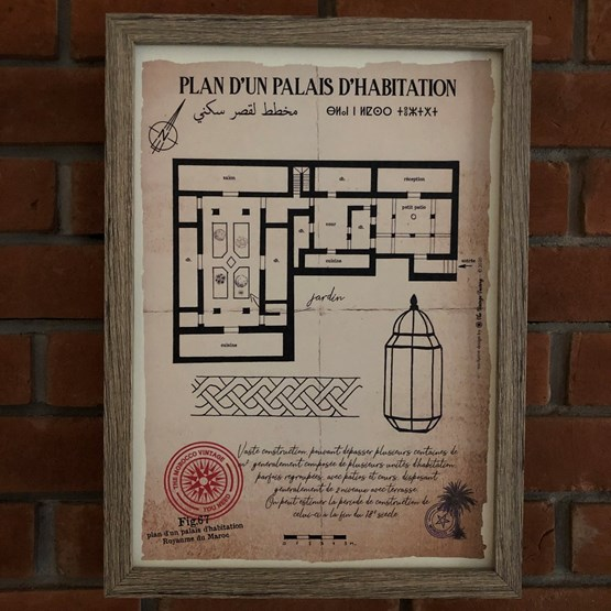 Plan d'un Palais d'habitation - Design : THE VINTAGE FACTORY