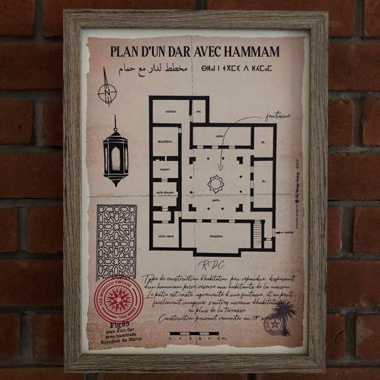 Plan d'un Dar avec hammam - Design : THE VINTAGE FACTORY