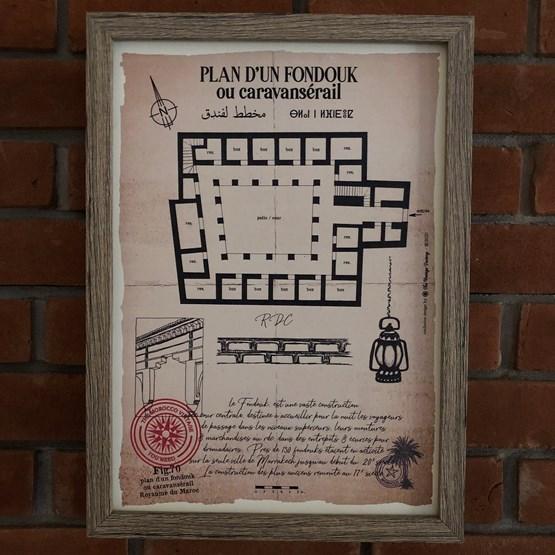 Plan d'un Fondouk - Design : THE VINTAGE FACTORY