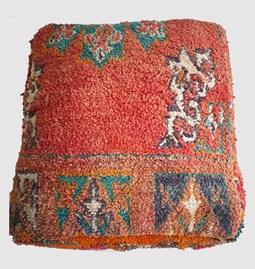 Pouf vintage marocain en tapis
