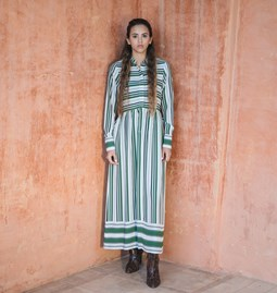 Robe Delphine green stripes