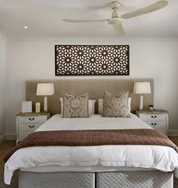 Tête de lit lumineuse arabesque