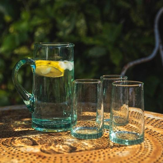 Carafe en verre beldi - Design : AFRIKAN LAGOM