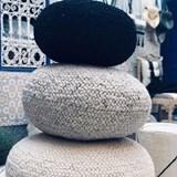 Pouf en laine tresée  - 80 cm Ø  6