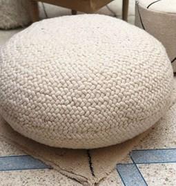 Pouf en laine  - 80 cm Ø