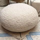 Pouf en laine tresée  - 80 cm Ø  7
