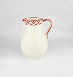 Jug with red patterns