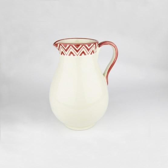 Cruche avec motifs rouges - Design : ALCHIMIES