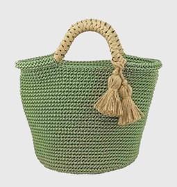 Sac Panier coton vert