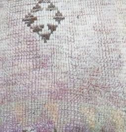 Pouf vintage marocain en tapis recyclé
