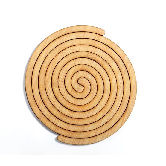 Sous plat en bois Helix - Design : BOLTEN DESIGN