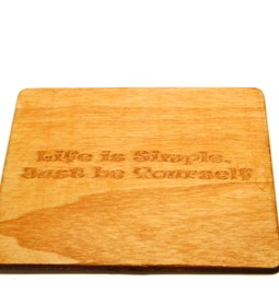 Wooden Coaster - Feel Good Messages