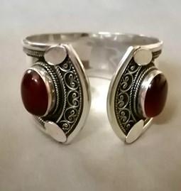 Bracelet manchette agate