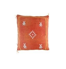 Coussin rouge brique en soie végétale d'Aloe Vera