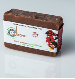 Argan-hibiscus cleansing face soap